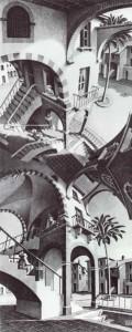 M.C. Escher (1898 – 1972) Onder en boven (1947)
