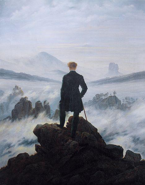 Caspar David Friedrich (1774 – 1840) Der Wanderer über dem Nebelmeer (1818) Olieverf op doek (98 x 74 cm) Kunsthalle, Hamburg